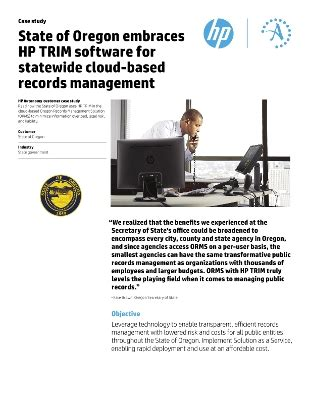 State Of Oregon Records Hp Records Manager Compliance Products