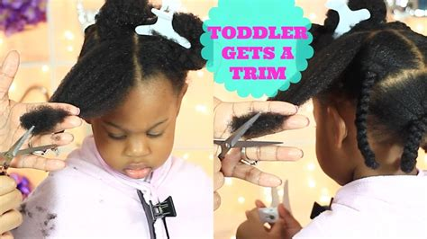 how to trim 4c hair toddler gets a trim toddler natural hair care thick
