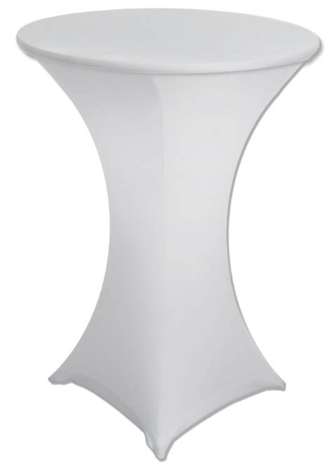 30 x 42 white spandex highboy cocktail table cover