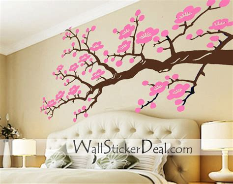 cherry blossom branches wall stickers home decorating