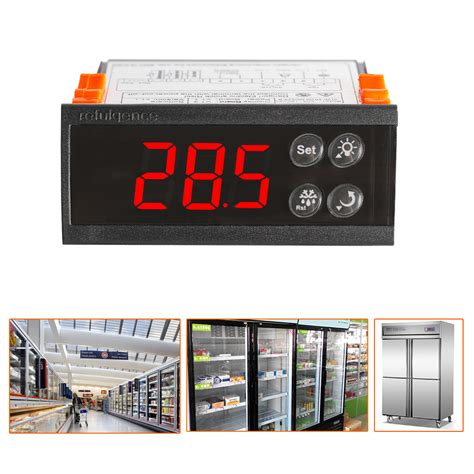 Digital Panel Thermometer Elitech 220 Vac 50 Hz 58 4 X 25 7 Mm digital elitech 220v ecs 180neo temperature controller