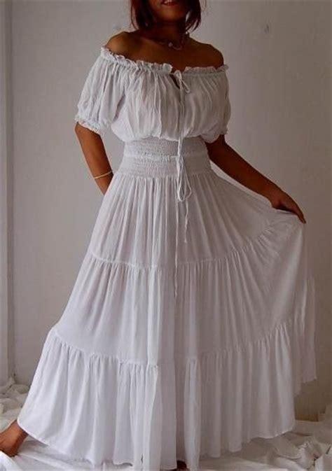 Size 5x Wedding Dresses by White Dress Peasant Smocked Ruffled S M L Xl 1x 2x 3x 4x