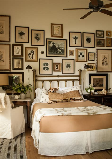 i like the picture collage above the bed pottery barn 10 ways to decorate above your bed domestic imperfection