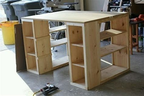 Diy Craft Desk With Storage Diy Craft Room Table Home Sweet Home Pinterest
