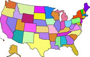 colored united states map colored map of the united states