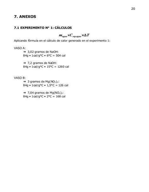 reacciones exotermicas y endotermicas biologia 1 cibertareas qu 237 mica informe reacciones exot 233 rmicas y endot 233 rmicas y