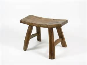 vintage wooden stool primitive wood footstool wood