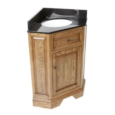 Black Corner Vanity by Hembry Creek Chesapeake 26 In Corner Vanity In Driftwood
