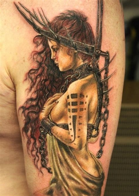 female warrior tattoos designs 60 most amazing half sleeve designs