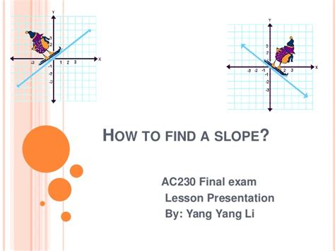 how to find slope from a how to find a slope