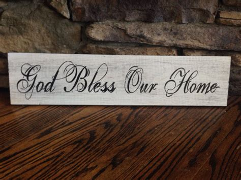 god bless our home wood sign 24x5 5
