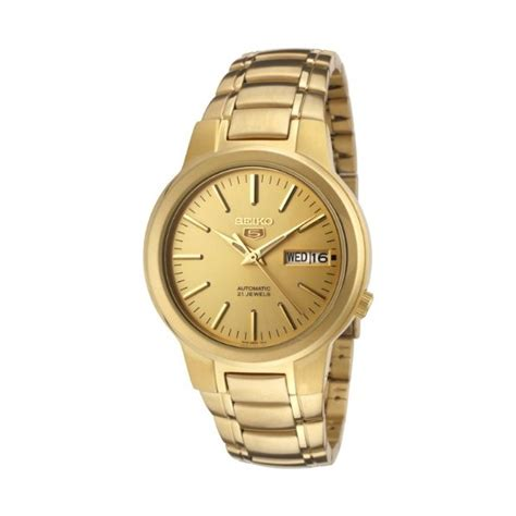 seiko 5 gold tone automatic mens snka10 watcheo co uk