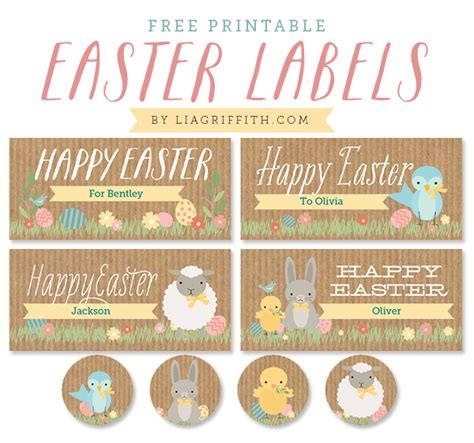 printable easter stickers easter labels for kids by lia griffith worldlabel blog