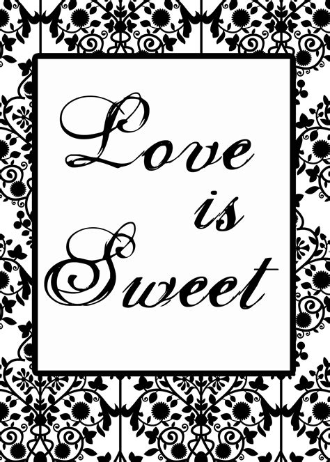 Free Candy Buffet Sign Template Bridal Party Tees Buffet Signs Templates