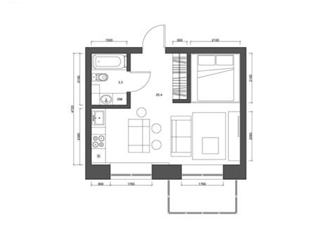 tiny apartment floor plans 4 tiny apartments 30 square meters includes floor plans