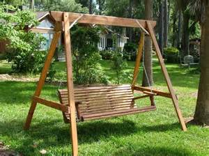 swing support frame chaise lounge cushion diy a frame for swing build a wood