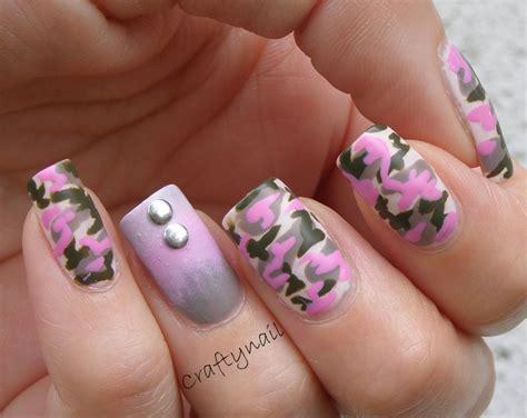 pink camo craftynail