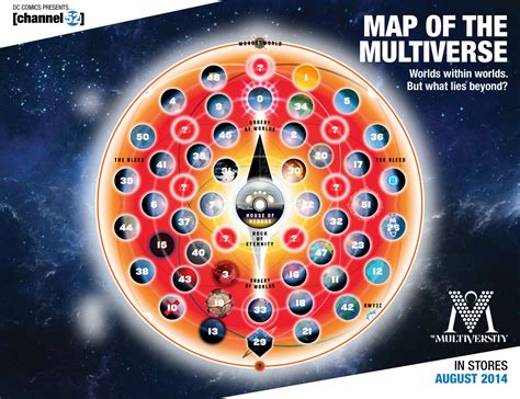 through the multiverse books entertainment weekly reveals a mapped dc multiverse dc