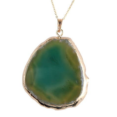 gemstone pendant necklace quartz agate point