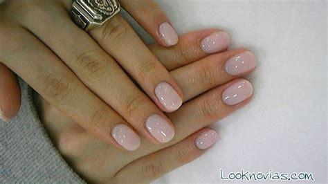 imagenes de uñas acrilicas rosa pastel manicura para novias 2015
