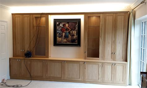 fitted living room cabinets oak living room cabinet finished and fitted williamson furniture bespoke fitted and