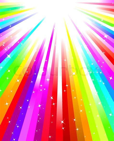 Rainbow White Syar I rainbow explosion with stock vector colourbox