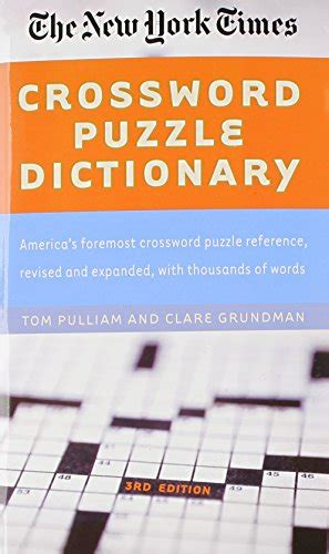 reference books crossword clue the new york times crossword puzzle dictionary puzzles