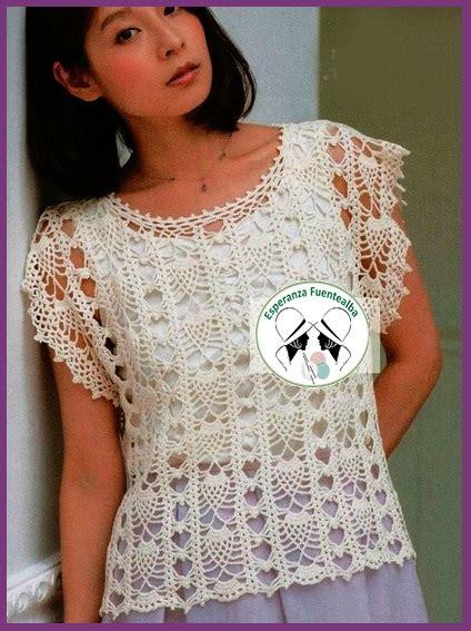 blusas de gancho blusas tejidas a gancho de moda hermosa blusa tejida con