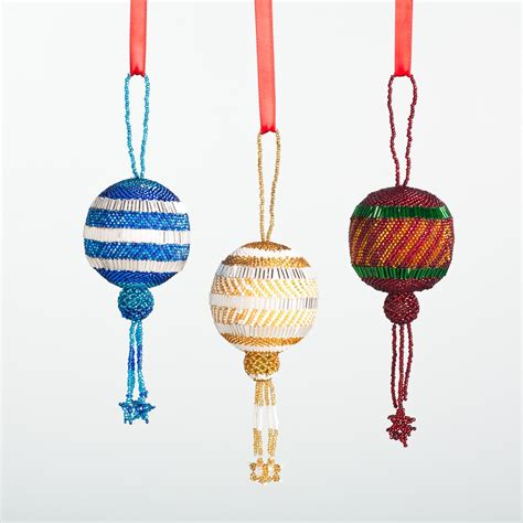 hand beaded fair trade guatemalan christmas ornament