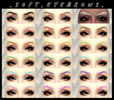 how to soften hair on eyebrows and get them to lay down soft eyebrows at decayclown s sims 187 sims 4 updates