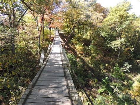 the swinging bridge story the legend of lover s leap swinging bridge in iowa