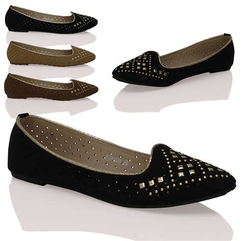 ebay flat shoes womens casual flat slip on comfortable ballerina