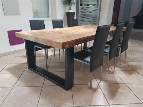 meuble industriel table de salle 192 manger en pin massif 8