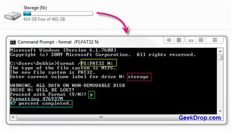 format fat32 command line windows 7 how to format a hard drive to fat32 in windows 7 or vista