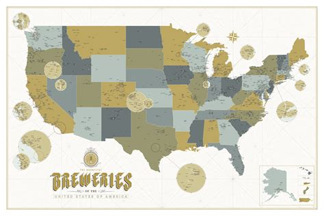 brewery map calling all nerds this incredibly detailed craft brewery map will your mind
