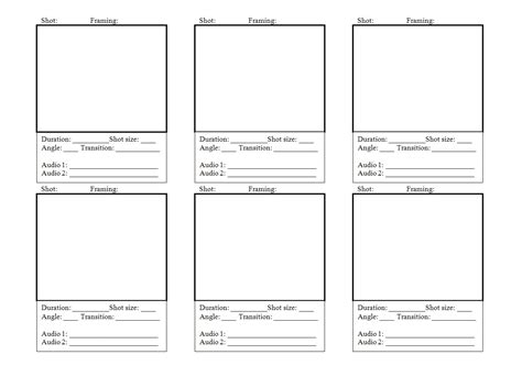 storyboards template storyboard template