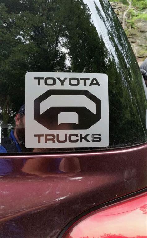 toyota trucks logo toyota truck logo decal ebay