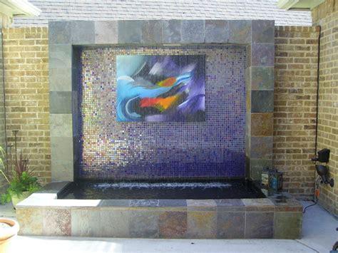 rain curtain water feature rain curtain water feature with custom artwork yelp