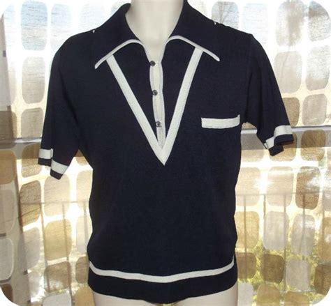 Vintage Apparel 9 Tshirtkaosraglananak Oceanseven vintage 60s mens italian knit collared v neck pullover gaucho top atomic polo shirt sweater