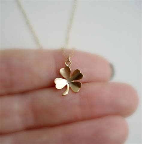 Modern Everyday At Etsy by Clover Necklace In Gold Lucky Charm Luck By