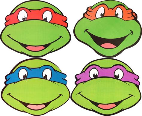 free coloring pages of ninja turtle masks