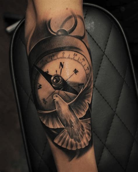 what does a compass tattoo mean dove meanings ink vivo