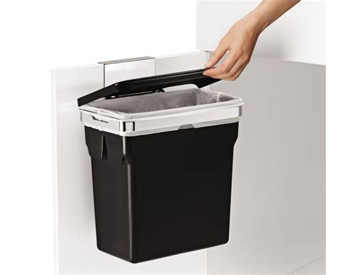 under sink garbage can simplehuman in cabinet door mounted trash can
