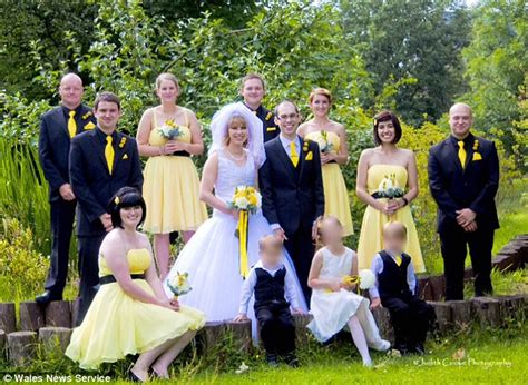 Wedding Team Colours by Groom Convinces To Yellow And Black Themed