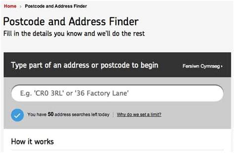 Royal Mail Address Finder Using Postcode Royal Mail Postcode Finder On Www Royalmail Postcode