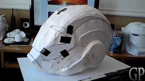 Iron Papercraft Helmet - iron 39 casco helmet pepakura papercraft