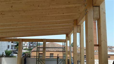 realizzazione tettoia in legno tettoia in legno su lastrico solare studio di pinto
