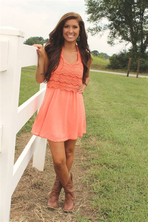 country dresses with boots frillclothing coral country concert dress 34 95 http