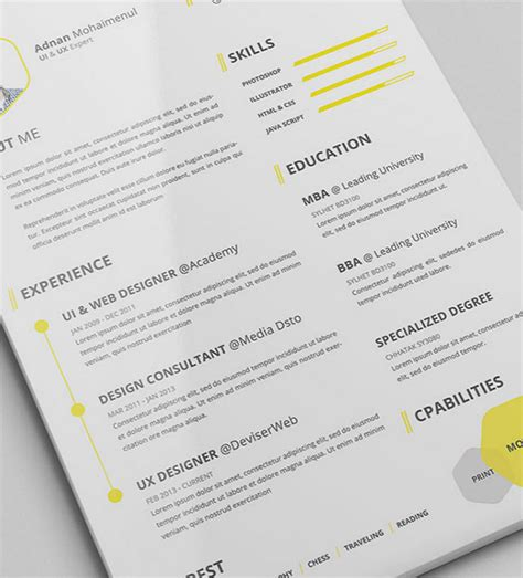 Resume Psd by 50 Beautiful Free Resume Cv Templates In Ai Indesign