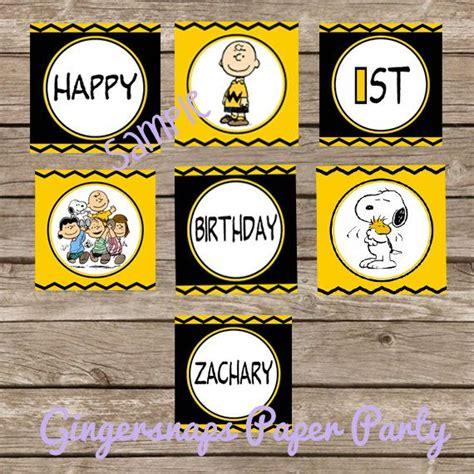 printable snoopy birthday decorations charlie brown snoopy birthday banner printable banner